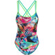 speedo Digi Xback Swimsuit Girls jade/green glow/black